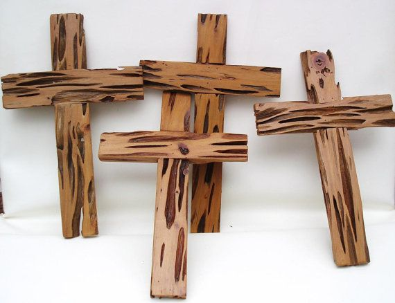 Handmade Pecky Cypress Wood Crosses Wooden Crucifix by WhimzyThyme