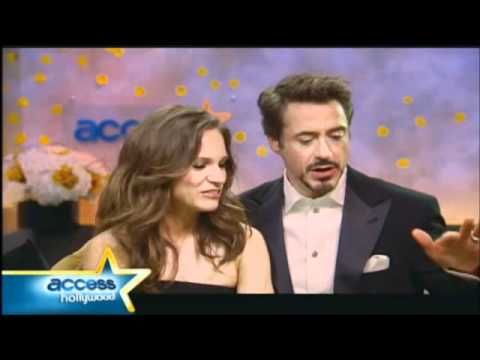 Cute - Post Golden Globe 2011 interview Robert Downey Jr & Susan Downey. seriously the best couple of all time.
