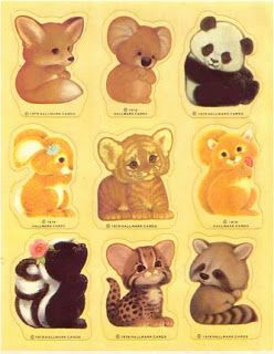 Cute animal stickers. My favorites are the fox, the koala, the panda, the bunny, the squirrel, the skunk...wait...i'm listing everything.