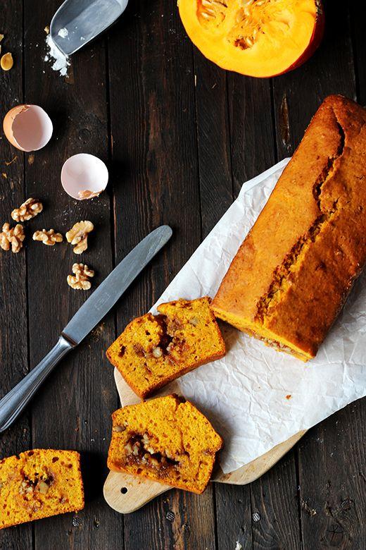 Kürbiskuchen mit Zimt und Walnusskaramell, Herbstkuchen, Rezept, Foodblog, Holunderweg18
