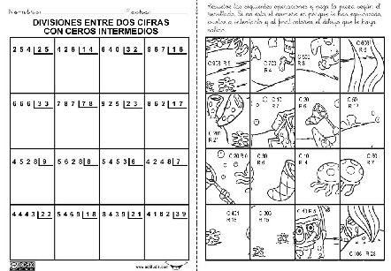 Ejercicios de division de dos cifras - Imagui | Division Dos Cifras ...
