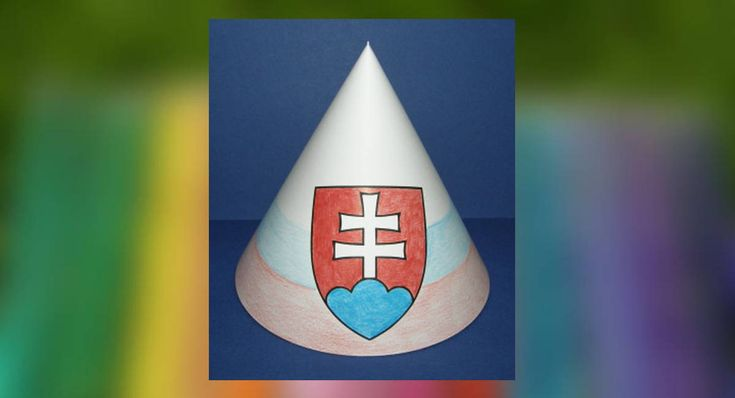 Vyrobte si papierový klobúčik so slovenským znakom. Pre deti.