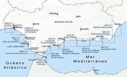 Estrecho de Gibraltar. Carta Náutica Cartografía Náutica AND-09