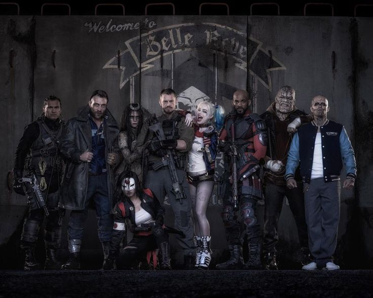 """SUICIDE SQUAD"" HAS BEEN RELEASED😀😀 omg yay th full crew!!"