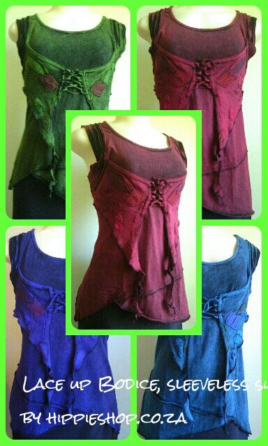 Medieval Lace-Up Bodice Top - Summer cool by HippieshopAfrica on Etsy