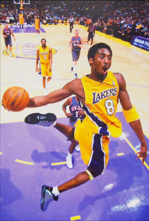 9a8d2c1845b Kobe Bryant Dunking Vintage #8 Poster 24 x 36 | Posters | Bryant basketball,  Lakers kobe bryant, Kobe bryant dunk