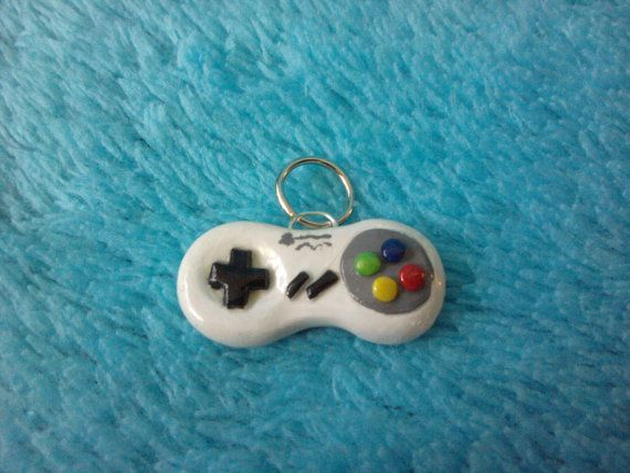 Video Game Controller 1 Polymer Clay Charms by TwiceAsMice on Etsy, $9.00