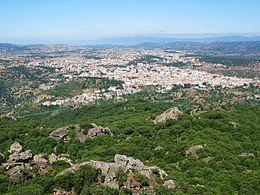 Vista di Nuoro dal Monte Ortobene