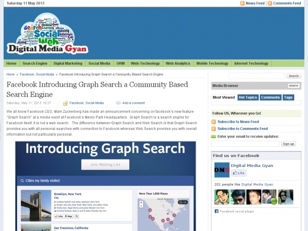 Digital Media Gyan - Latest News, Tips about Internet Marketing and Search Engine