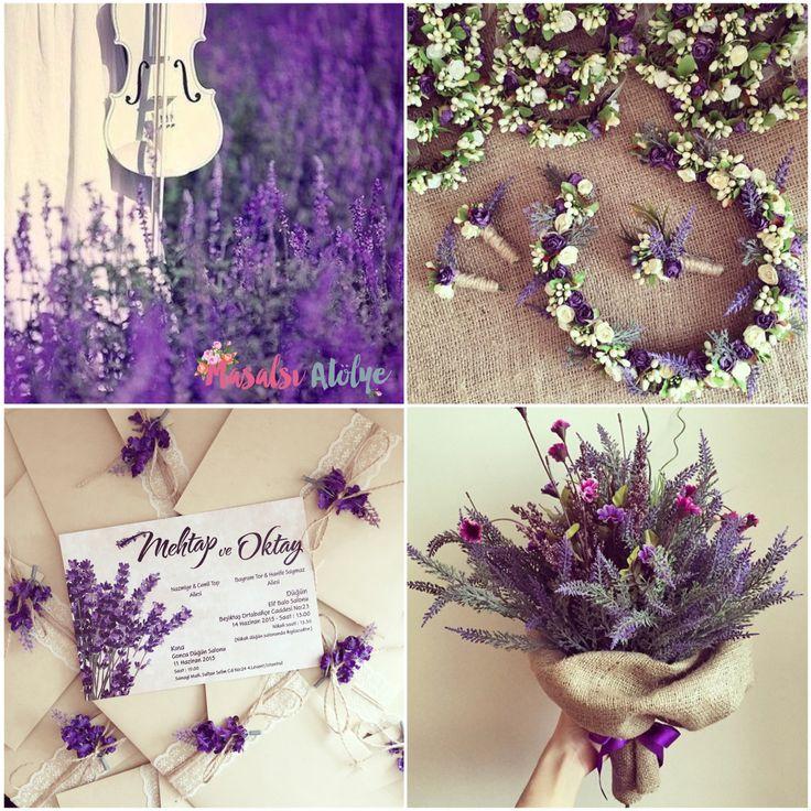 Lavanta düğün konsepti / Lavender wedding theme www.masalsiatolye.com