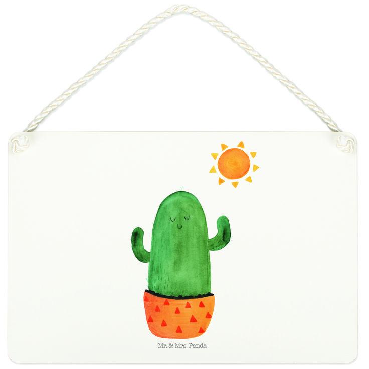 Deko Schild Kaktus Sonnenanbeter aus MDF  Weiß - Das Original von Mr. & Mrs. Panda.  Ein wunderschönes Schild aus der Manufaktur von Mr. & Mrs. Panda - die Schilder werden von uns direkt nach der Bestellung liebevoll bedruckt und mit einer wunderschönen Kordel zum Aufhängen versehen.    Über unser Motiv Kaktus Sonnenanbeter  Sommer, Sonne, Sonnenschein! Da darf natürlich der Kaktus nicht fehlen... Mrs. Panda zeichnete die Kakteen fröhlich und freundlich, da sie in Kakteen kleine…