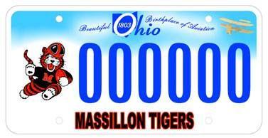 new Massillon Tiger plates.. sweet!
