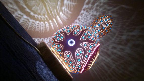 VERKOOP 12%  2016 'Strangelands' kalebas Lamp door TheSacredWays