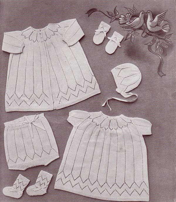 Knitting daydream baby layette with free knitting patterns