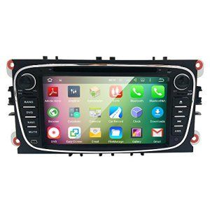 HIZPO Android 5.1 Lollipop Quad Core Car in Dash Radio Double Din Stereo Headunit for Ford Focus Mondeo S-max C-max Galaxy Support GPS…