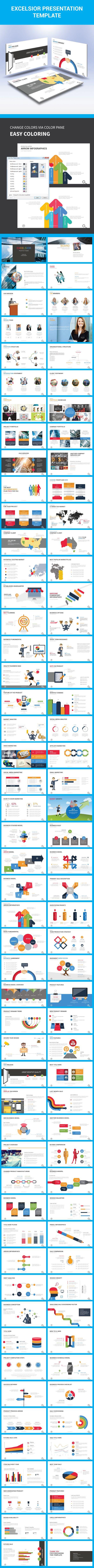 Excelsior PowerPoint Presentation Template #design #slides Download: http://graphicriver.net/item/excelsior-presentation-template/14341939?ref=ksioks