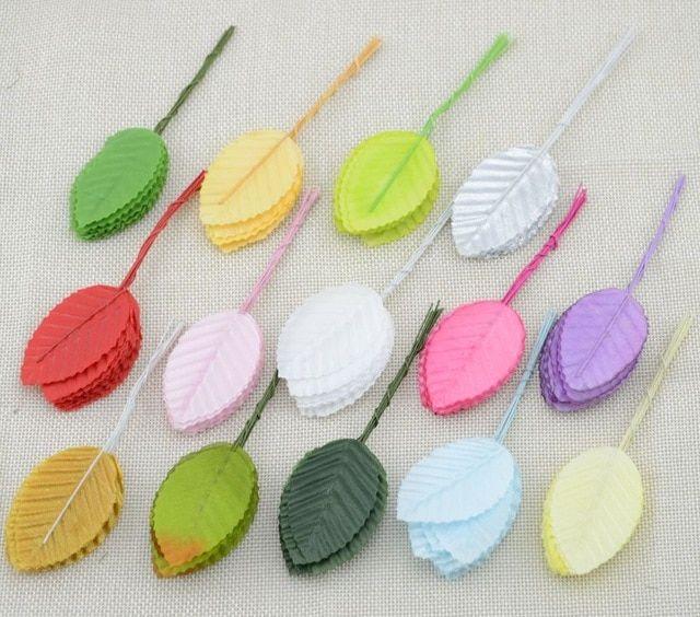 50Pcs Artificial Silk Leaf Green Leaves Flower DIY Leaf Home Party Decorative