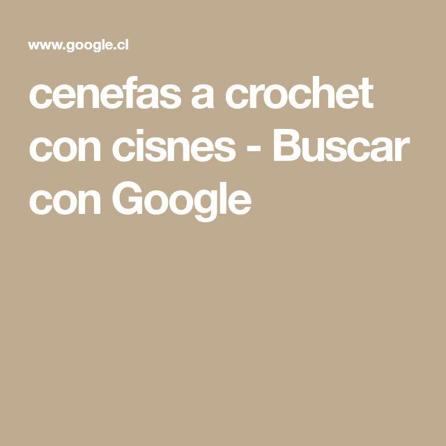 cenefas a crochet con cisnes - Buscar con Google