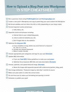 WP Checklist Free Download