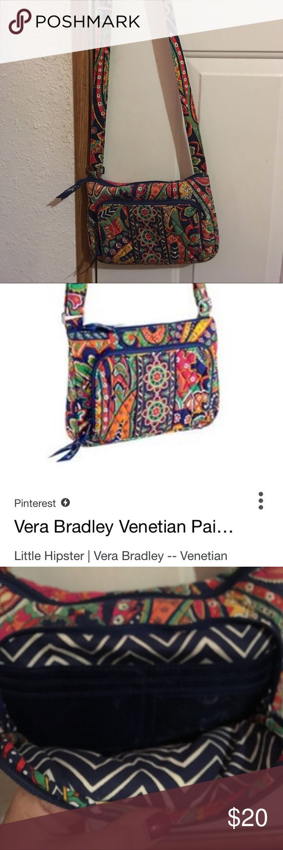 Vera Bradley //SALE FRIDAY AND SATURDAY ONLY!! Vera Bradley Venetian paisley little hipster in awesome condition has been used but very little! Vera Bradley Bags Crossbody Bags