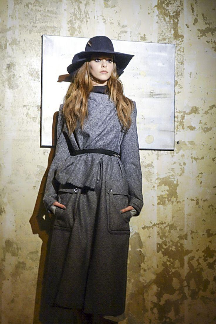 coat with scarf, hat, konsanszky, aw2014