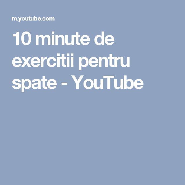 10 minute de exercitii pentru spate - YouTube