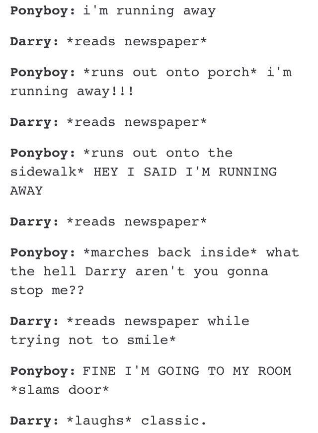 nice job Darry, great parenting!