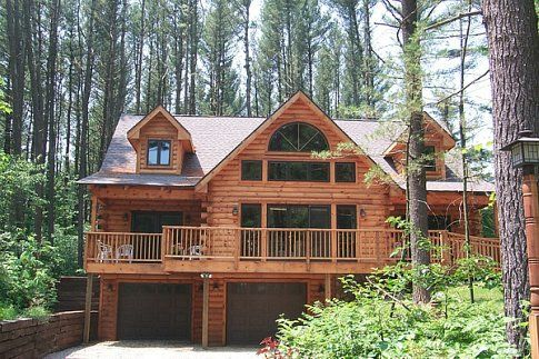 39 best images about dream log home on pinterest luxury for Luxury log cabin kits