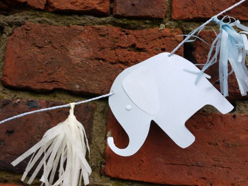 Custom elephant shape added onto a letter banner for a child's room - please contact for a custom quote!  Custom paper decor by Paper Street Dolls  Check out our store - paperstreetdolls.etsy.com