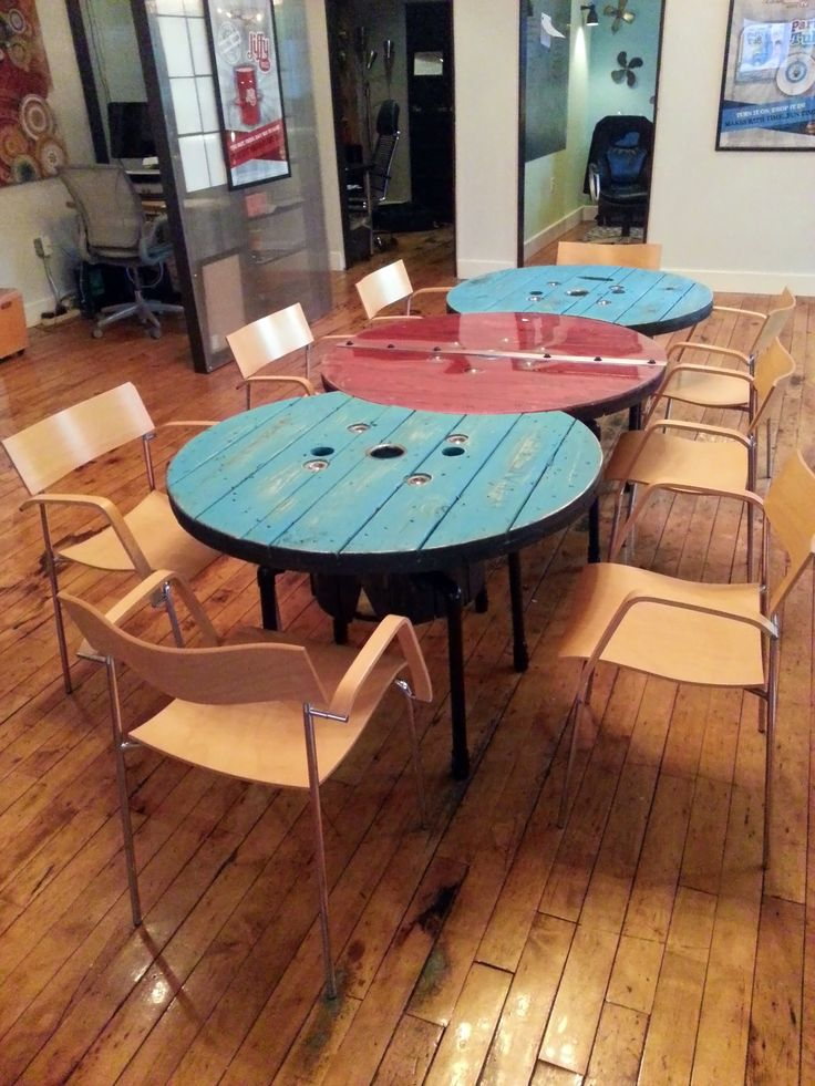 Custom Made Cable Spool Table