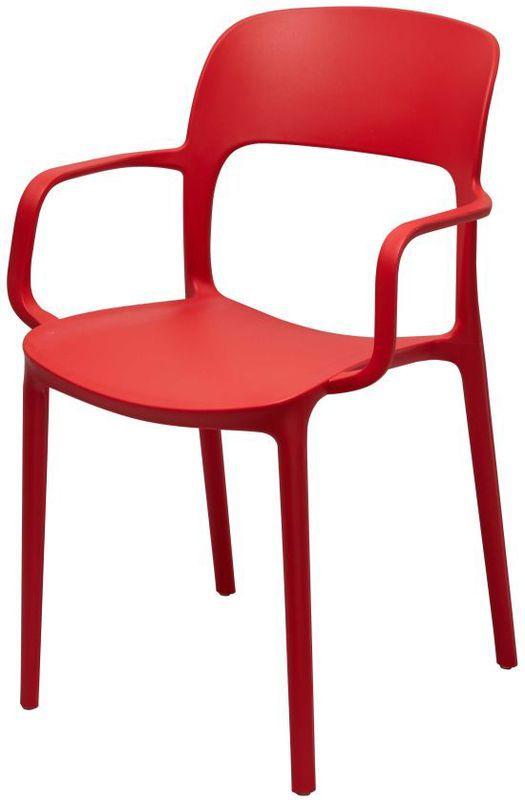 Стул Кресло Флекси красный пластик стулья и кресла из пластика пластиковые стулья 4ugla.com.ua