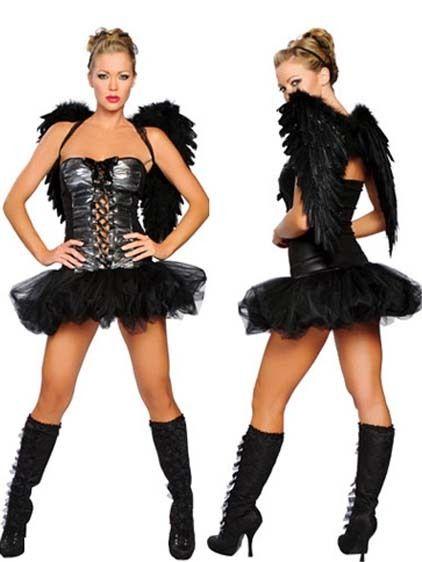 Disfraz de ngel negro disfraces maquillajes for Disfraces de angeles