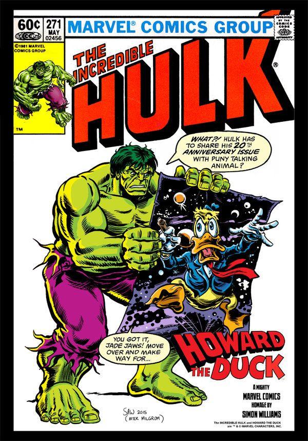 Incredible Hulk and Howard the Duck by Simon-Williams-Art.deviantart.com on @DeviantArt