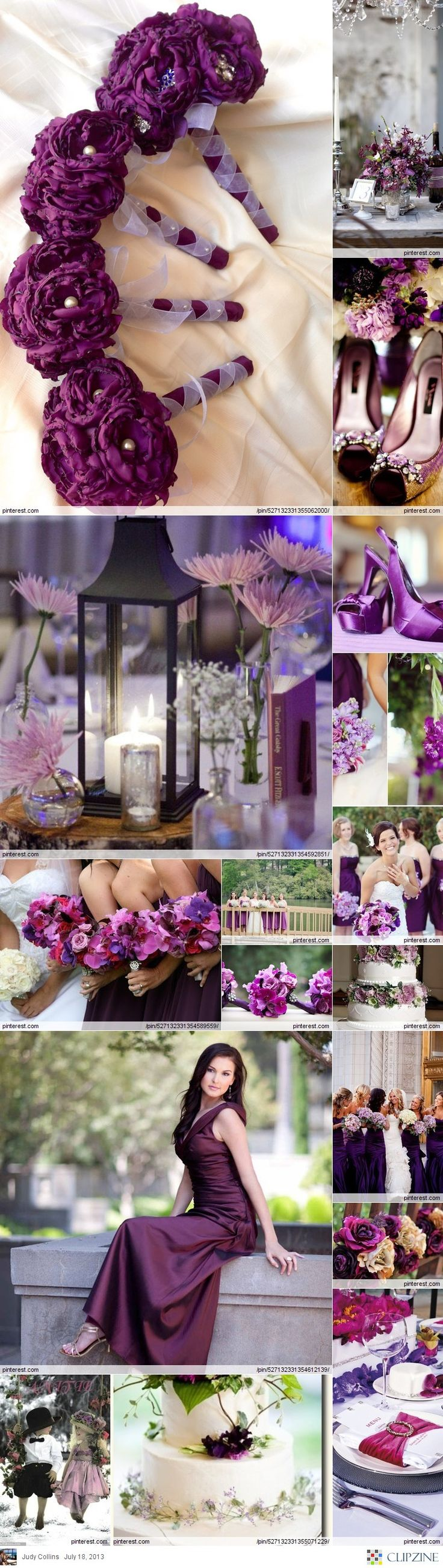 Would Really Love A Blush And Gold Wedding But I This Deep Purple Color