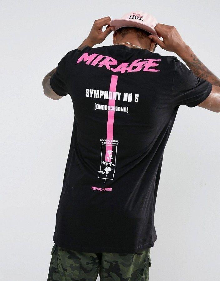 0608f975 Asos Super Longline T-Shirt With Mirage Back Print   Tees   Shirts ...