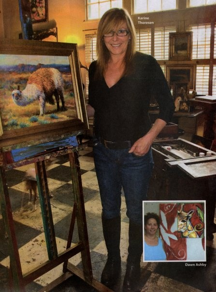 This is the norwegian artist KARIN THORESEN who workes and live in USA.
