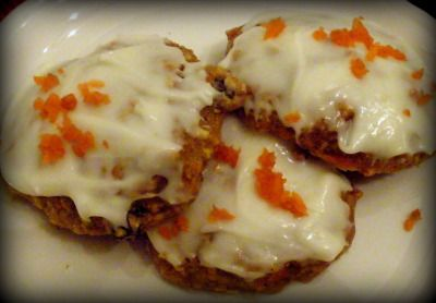 Low-Fat Carrot Cake Cookies with Cream Cheese Frosting @Donna Schnyder ...