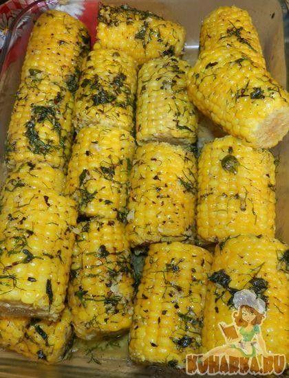 Рецепт: Кукуруза, запеченная в духовке в фольге