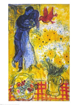 "Marc Chagall, ""Lovers and Flowers"" for the kitchen"