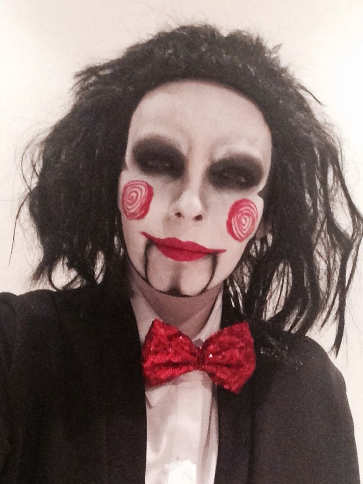 Halloween Fancy Dress 2014 - Billy the Puppet SAW #makeup ...