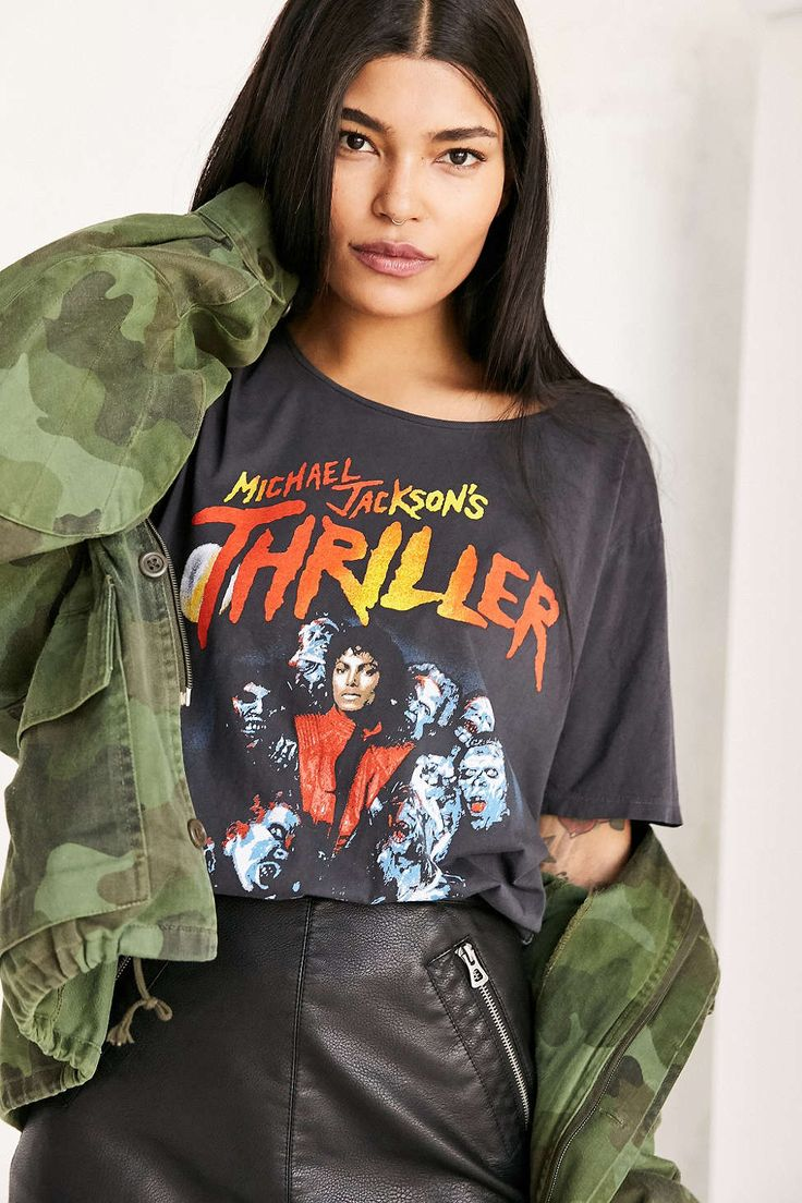 Black t shirt michaels - Michael Jackson Thriller Tee