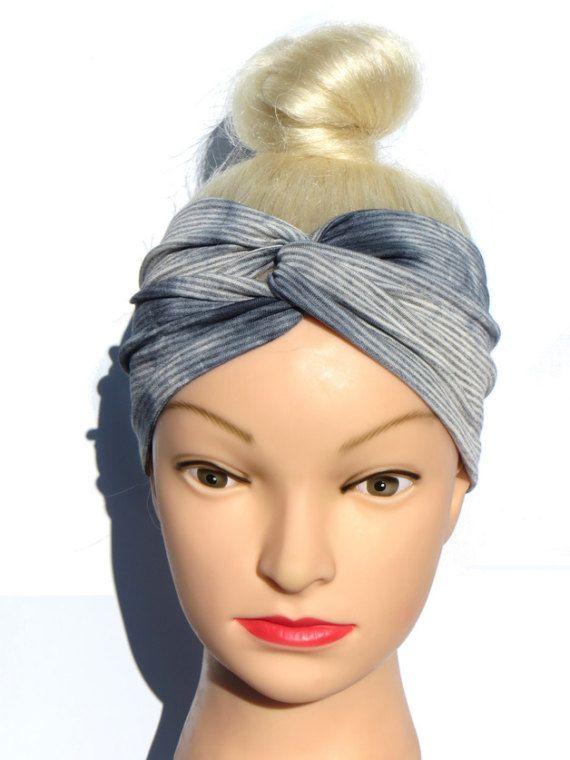 Striped Turban Headband knot Comfortable Headwrap di ragazzamagica