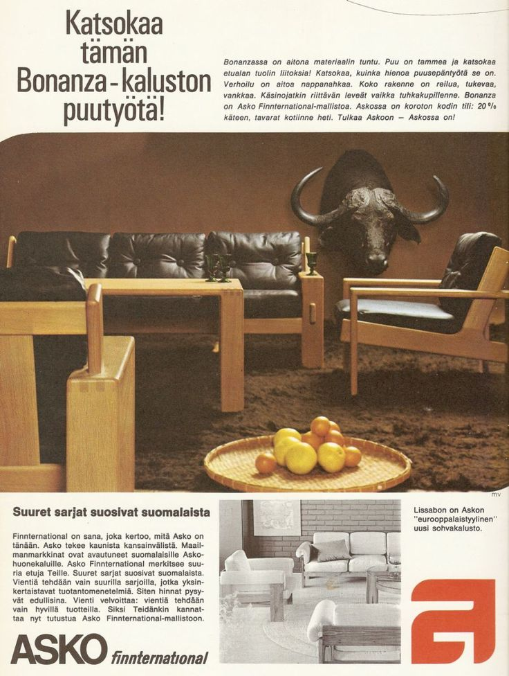 Finnish retro living room furniture sets: Bonanza - 70-luvulta, päivää !