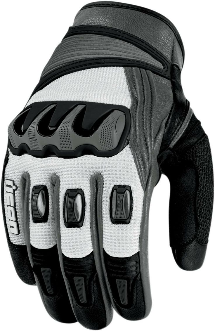 Icon Justice Leather Motorcycle Gloves - Icon compound short gloves motorcycle