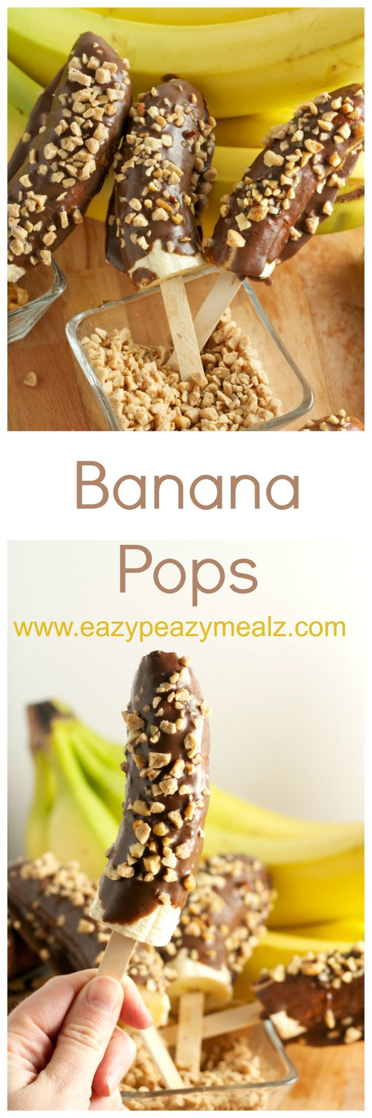 Banana Pops: Not frozen, won't hurt your teeth, so easy to make. Basically the perfect healthy treat! #sp - Eazy Peazy Mealz