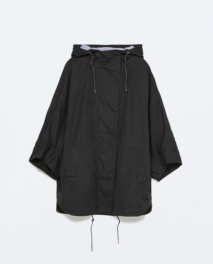 ZARA - レディース - ポケット付きケープ風パーカー