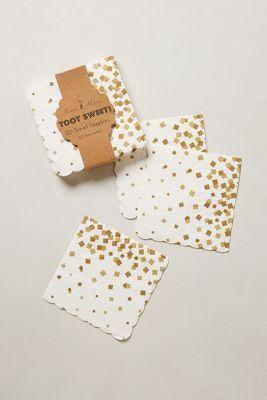 gold confetti paper napkins