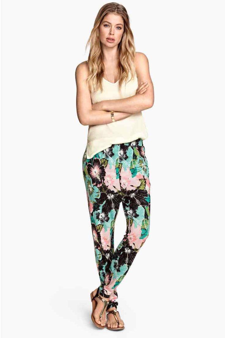 Pantaloni in jersey fantasia   H&M