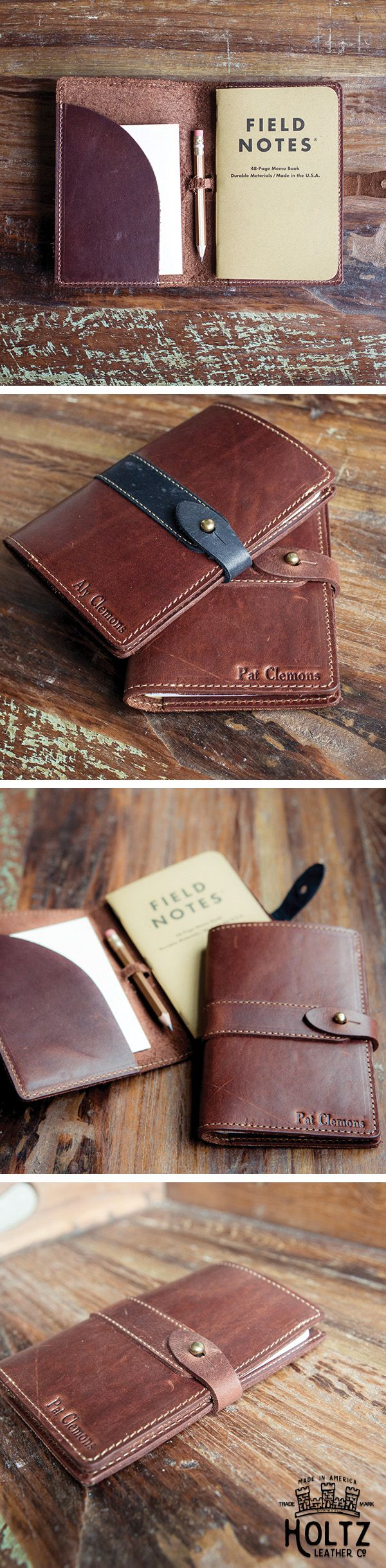 The Surveyor Fine Leather Journal is a gift your groomsmen will use and love for a lifetime.  This journal includes one small field notes journal and a pencil.  Add their initials to make it a memorable keepsake.