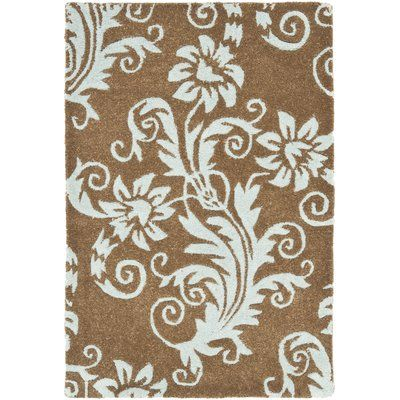 Safavieh Soho Light Brown / Light Blue Contemporary Rug Rug Size:
